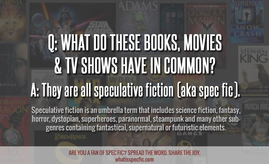 Speculative fiction. Spread the Word. Share the Joy.